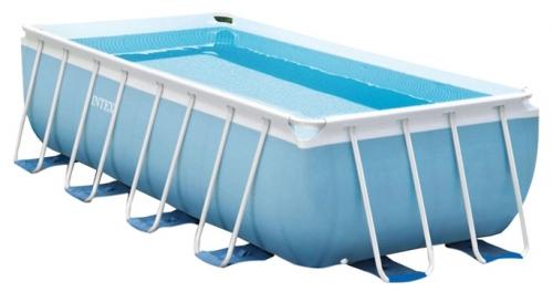 28318 Прямоугольный каркасный бассейн Intex Prism Frame Pool (488 х 244 х 107 см) + фильтрующий насос + аксессуары