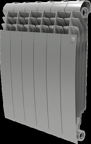 Радиатор ROYAL THERMO Biliner 500 -  6 секций биметалл Silver Satin
