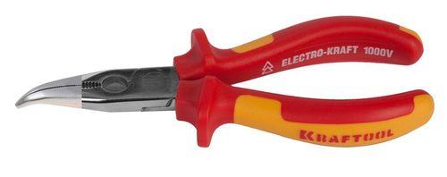 Диэлектрические тонкогубцы изогнутые KRAFTOOL ELECTRO-KRAFT 2202-4-160