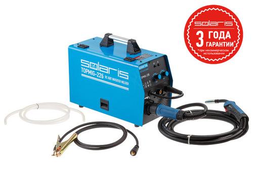 Полуавтомат сварочный Solaris TOPMIG-226 (MIG/MAG/FLUX) с горелкой 5м