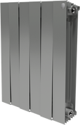 Радиатор ROYAL THERMO Pianoforte 500 -  6 секций биметалл Silver Satin