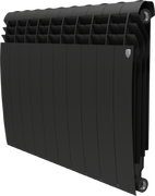 Радиатор ROYAL THERMO Biliner 500 - 10 секций биметалл Noir Sable