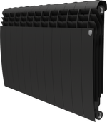 Радиатор ROYAL THERMO Biliner 500 - 12 секций биметалл Noir Sable