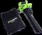 Воздуходув-Садовый Пылесос аккумуляторный Greenworks GD40BV, 40V, бесщеточный, без АКБ и ЗУ