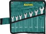 """Набор ключей рожковых хромированных KRAFTOOL """"EXPERT"""" 27033-H7"""