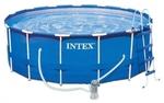 28218 Бассейн каркасный Intex Metal Frame 3,66х0,98м с фильтр-насосом и лестницей, 9400л