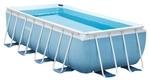28316 Прямоугольный каркасный бассейн Intex Prism Frame Pool (400 х 200 х 100 см) + фильтрующий насос + лестница