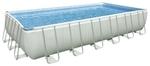 28366 Каркасный бассейн Intex Rectangular Ultra Frame Pool (732 х 366 х 132 см) + песочный фильтрующий насос с хлоргенератором + аксессуары