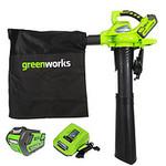 Воздуходув-Садовый Пылесос аккумуляторный Greenworks GD40BVK6, 40V, бесщеточный, с 1хАКБ 6 А.ч и ЗУ