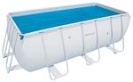 56456 Каркасный бассейн прямоугольный BestWay, 412х201х122см, фильтр-насос картр 2006 л/ч (56241)