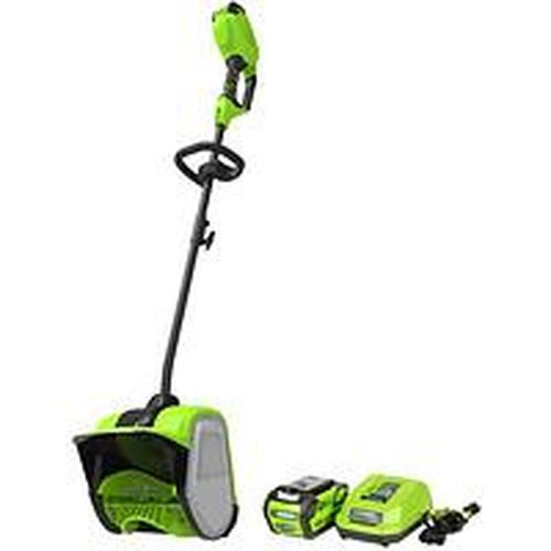 Снегоуборщик аккумуляторный Greenworks GD40SSK2, 40V, 30 см, бесщеточный, с 1хАКБ 2 А.ч и ЗУ