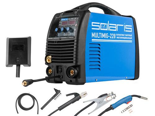 Полуавтомат сварочный Solaris MULTIMIG-228 (MIG-MMA-TIG) c TIG горелк.
