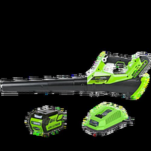 Воздуходув аккумуляторный Greenworks G40ABK3, 40V, с 1хАКБ 3 А.ч и ЗУ