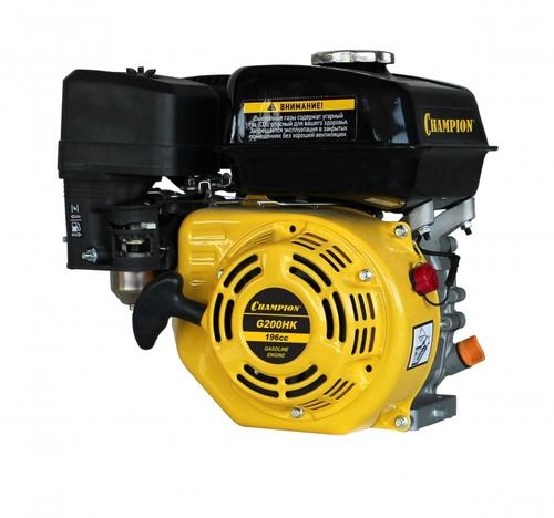 Бензиновый Двигатель CHAMPION 6,5 лс 196см3 G200HKшпонка