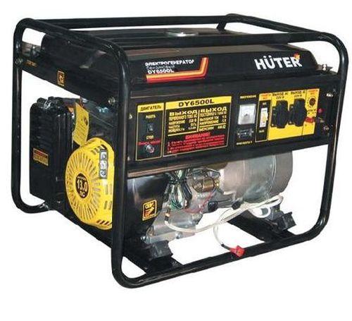 Бензогенератор Huter DY6500LX-электростартер