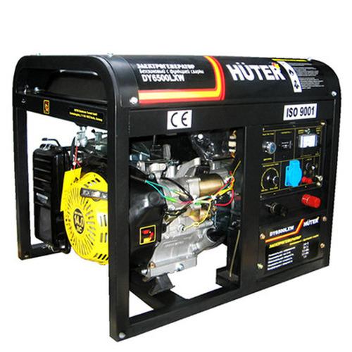 Бензогенератор Huter DY6500LXW с функцией сварки