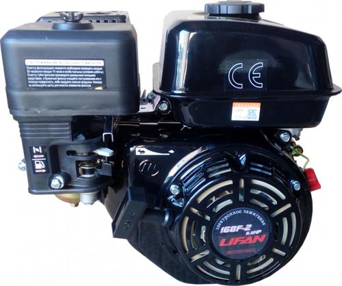 Бензиновый двигатель LIFAN 168F-2 ECONOMIC 6,5 л.с., вал-20 мм